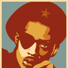 Slick Rick (Red) by Shepard Fairey