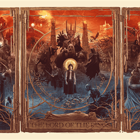The Lord Of The Rings Triptych (Timed Edition) by Gabz