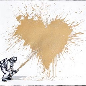 Love To The Rescue (Gold) by Mr Brainwash