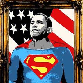Obama Superman (Gold) by Mr Brainwash