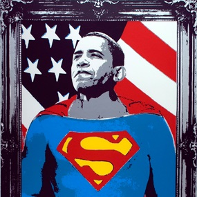 Obama Superman (Silver) by Mr Brainwash