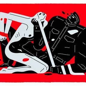 Talk Talk Talk (Red) by Cleon Peterson