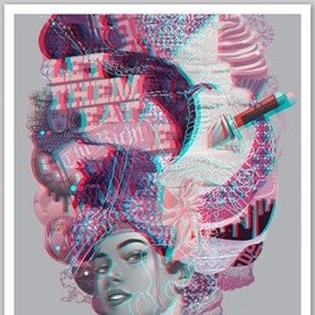 The October March (Anaglyphic 3D) by Tristan Eaton