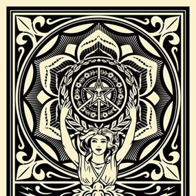 District 13 Lotus Woman (First Edition) by Shepard Fairey