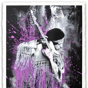 Jimi (Purple) by Mr Brainwash