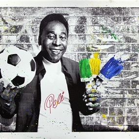 The King Pele - Brush Portrait by Mr Brainwash