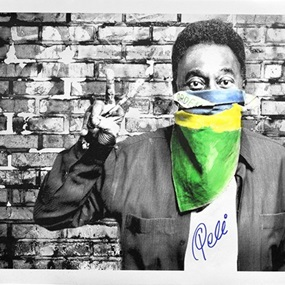 The King Pele - Flag Portrait by Mr Brainwash