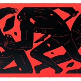 Step Into The Night (Red & Black) by Cleon Peterson