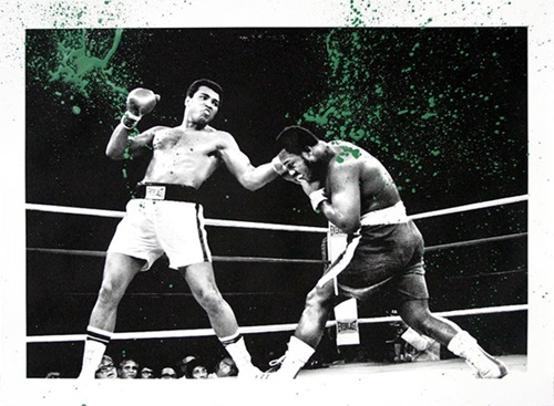 Grand Ali (Green) by Mr Brainwash