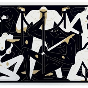 Stare Into The Sun (Black And Gold) by Cleon Peterson