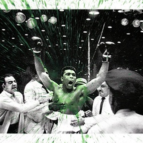 Absolute Ali (Green) by Mr Brainwash