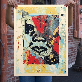 Enhanced Disintegration (Red) by Shepard Fairey
