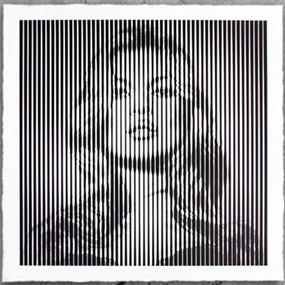 Fame Moss (Black On Grey) by Mr Brainwash