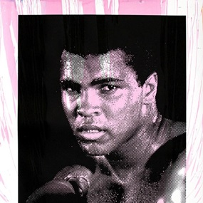 Magnificent Ali (Pink) by Mr Brainwash