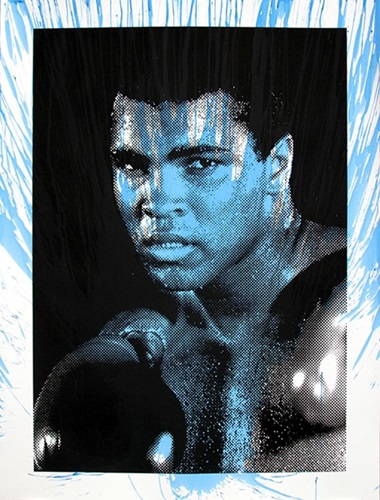 Magnificent Ali (Blue) by Mr Brainwash