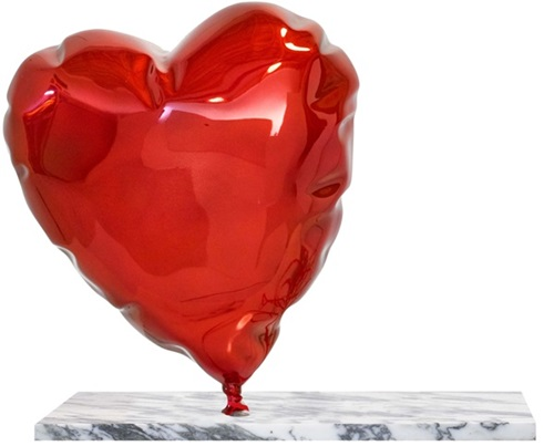 Balloon Heart (Red) by Mr Brainwash