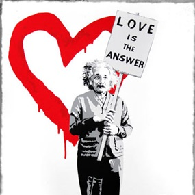 ♥=mc2 (Red) by Mr Brainwash