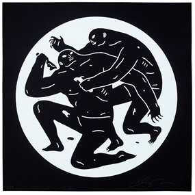 Destroying The Weak 1 (White) by Cleon Peterson
