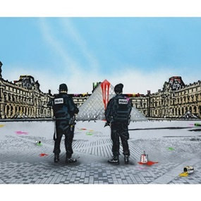 Vandal vs Louvre by Nick Walker