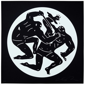 Destroying The Weak 2 (White) by Cleon Peterson